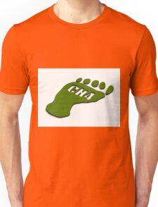 Methane footprint Unisex T-Shirt