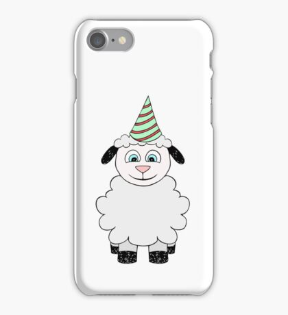 Vector illustration of baby lamb. Isolated party cartoon animal iPhone Case/Skin