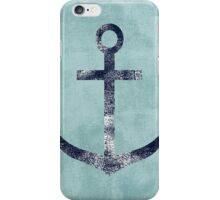 Blue Grunge Nautical Anchor iPhone Case/Skin