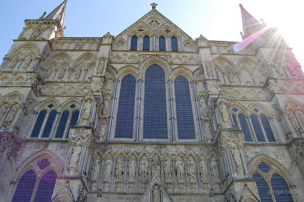 Salisbury Cathedral front by gingerbird