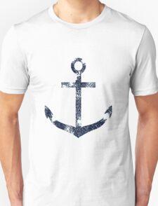 Blue Grunge Nautical Anchor Unisex T-Shirt