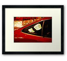 sunset strip car Framed Print