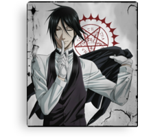 Black Butler: Sebastian Canvas Print