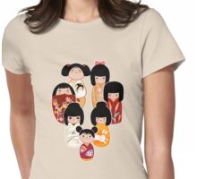 Kokeshi in Autumn Womens Fitted T-Shirt