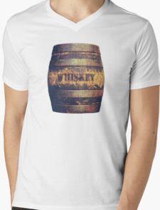 Rustic American Whiskey Barrel Mens V-Neck T-Shirt
