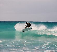 SURFER ,Russ Winter - European No.1 -'Flying In Barbados' by deweysurfer