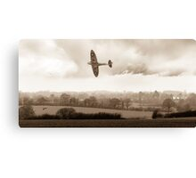 Eagle over England, sepia version Canvas Print