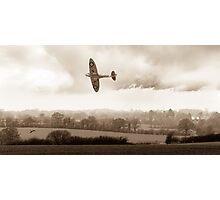 Eagle over England, sepia version Photographic Print