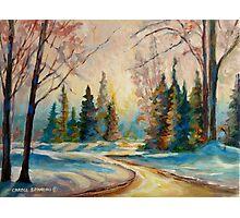 WINTER LANDSCAPE OF CANADA BY CANADIAN ARTIST CAROLE SPANDAU Photographic Print
