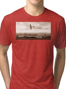 Eagle over England, sepia version Tri-blend T-Shirt