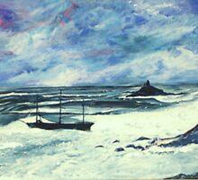 shipwreck at st michaels mount by davesart