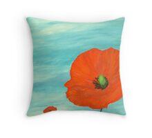 giant poppies Throw Pillow