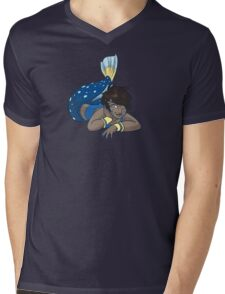 Cute Funny Cartoon MermaidCharacter Doodle Animal Drawing Mens V-Neck T-Shirt