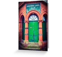 Salford Lads Club Greeting Card