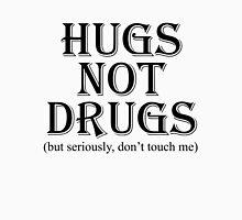 Hugs Not Drugs, Black Mens V-Neck T-Shirt