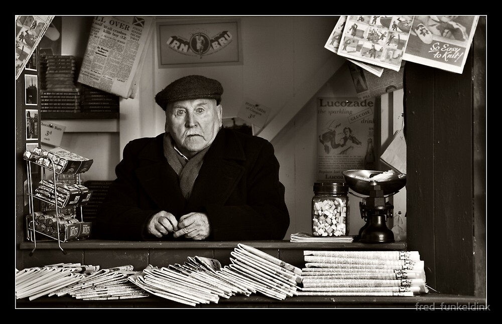 The old newspaper stand... by fred  funkeldink