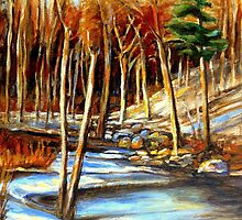 NEAR THE WINDING STREAM ARTISTS OF CANADA CANADIAN LANDSCAPE PAINTINGS by Carole  Spandau