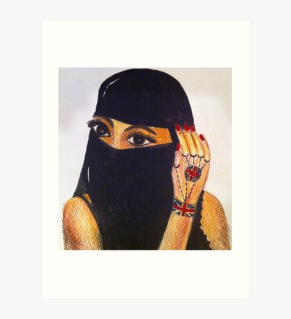 British Muslim Girl  Art Print