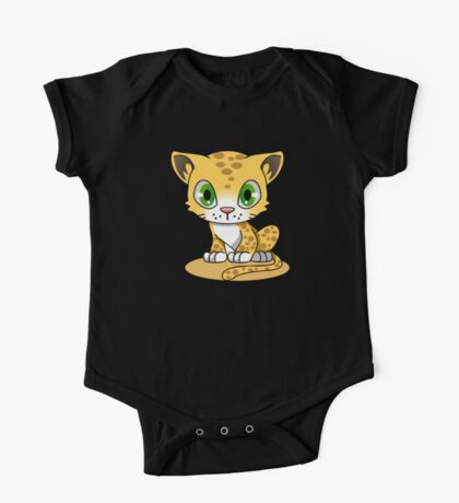Cute Funny Cartoon Silly Pussy Cat Character Doodle Kitten Drawing One Piece - Short Sleeve