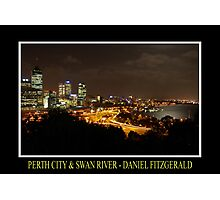 City Lights & River Moonshine Photographic Print