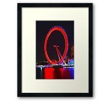 London Eye Red Framed Print