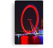 London Eye Red Canvas Print