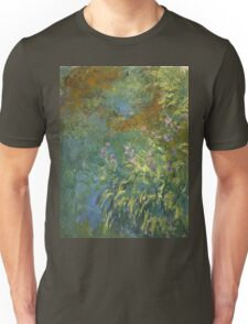 Claude Monet - Irises By The Pond Unisex T-Shirt
