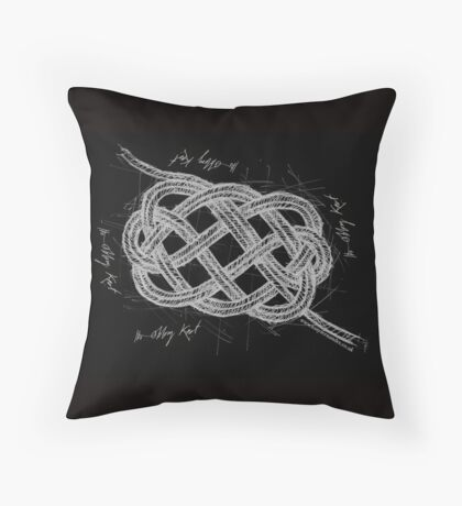 The Oblong knot, tony fernandes Throw Pillow