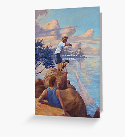 Chasin' Bait -Manly Qld Greeting Card