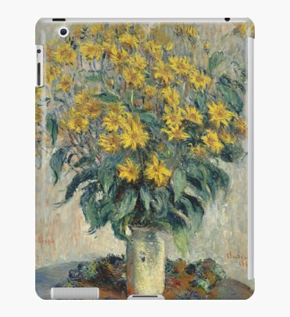Claude Monet - Jerusalem Artichoke Flowers iPad Case/Skin