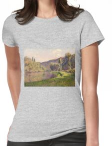 Claude Monet - Jeufosse, The Effect In The Late Afternoon 1884 1884 Womens Fitted T-Shirt