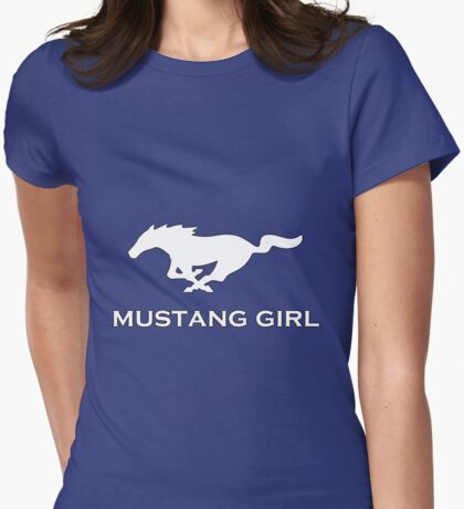 Mustang Girl Womens Fitted T-Shirt