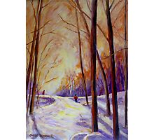 CROSS COUNTRY SKIING CANADIAN WINTER SCENES  Photographic Print