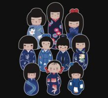 Kokeshi in Blue Baby Tee