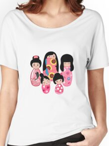 Kokeshi in Pink Women's Relaxed Fit T-Shirt