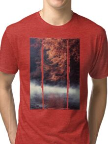 Nature*s Mirror - Fall at the River Tri-blend T-Shirt