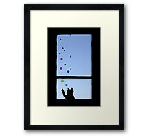 What cat dreams are made of Framed Print