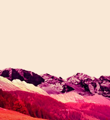 Pink Mountains Sticker