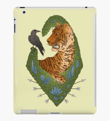 TIGER AND THE CROW - BRIGHT iPad Case/Skin
