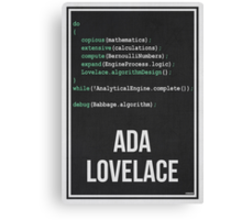 ADA LOVELACE - Women in Science Collection Canvas Print