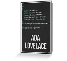 ADA LOVELACE - Women in Science Wall Art Greeting Card