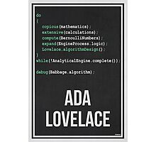 ADA LOVELACE - Women in Science Collection Photographic Print