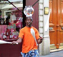 juggling goldfish by martinilogic
