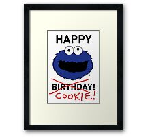 COOKIE MONSTER BIRTHDAY CARD Framed Print