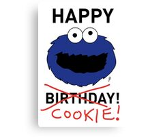 COOKIE MONSTER BIRTHDAY CARD Canvas Print