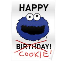 COOKIE MONSTER BIRTHDAY CARD Poster