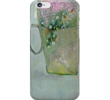 Flowers in a Mug, Original oil painting on paper iPhone Case/Skin