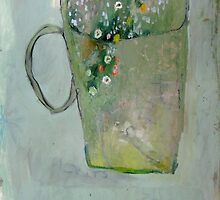 Flowers in a Mug, Original oil painting on paper by Brooke Wandall