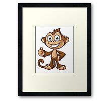Cheeky Monkey - Thumbs Up Framed Print