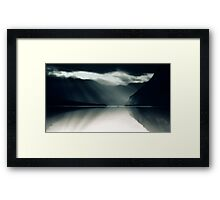 Two In A Boat - Lake Bohinj, Slovenia Framed Print